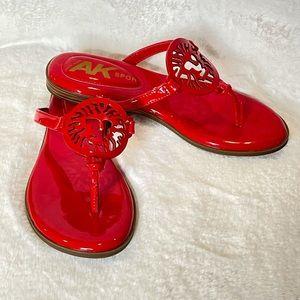 Anne Klein AK Sport Thong Sandals Flip Flops Logo